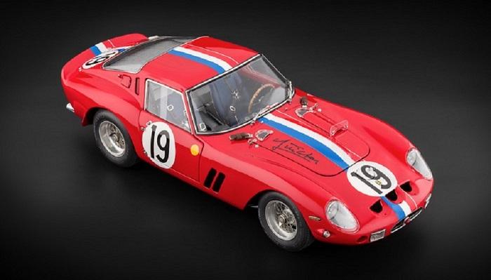 """CMC Ferrari 250 GTO, 24H Frankreich 1962 #19 Signatur Edition """"Jean Guichet"""""""