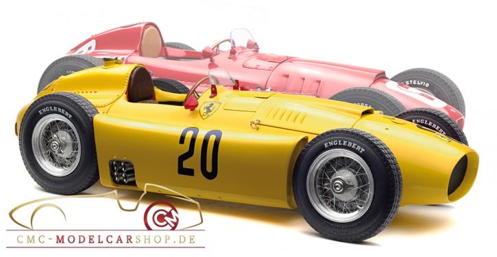 CMC Bundle: CMC Ferrari D50, #20 A. Pilette, GP Belgium + CMC Lancia D50, #6 Ascari, GP Turin, Italy