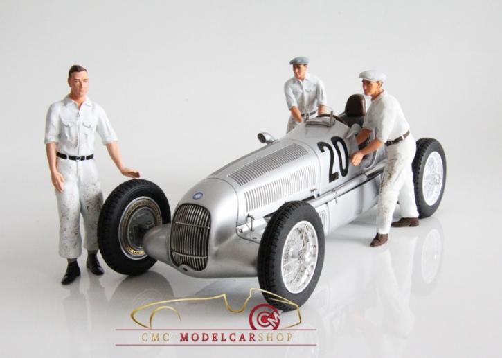 Figutec Set 3 Mercedes Mechaniker Figuren 1:18