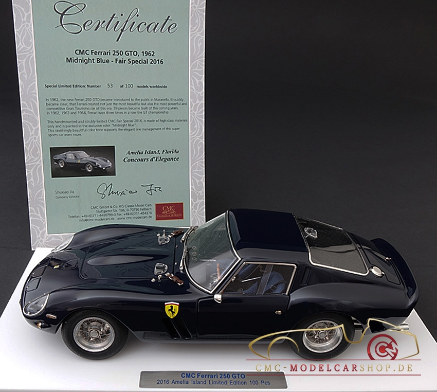 2016 Ferrari California Interior: Ferrari 250 GTO Amelia Island, CMC Model Car, Cmc