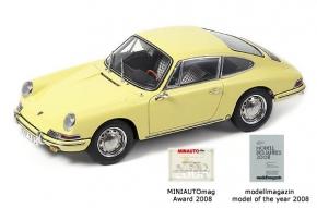 CMC Porsche 911 (901) 1964 champagner gelb, innen Leder schwarz
