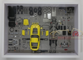 CMC Model Art Ferrari 250 GTO yellow parts display board