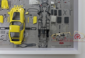 CMC Model Art Ferrari 250 GTO Gelb Bauteile Display