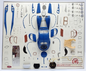 CMC Model Art Bugatti Atlantic parts display board