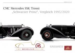 CMC model car brochure Mercedes SSK Trossi, comparison