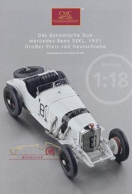 CMC model car brochure Mercedes-Benz SSKL, 1931