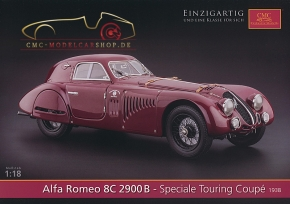 CMC model car brochure Alfa Romeo 8C 2900B Speciale Touring Coupé