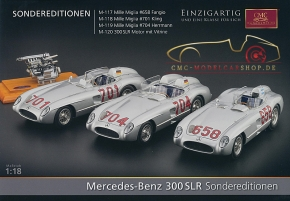 CMC Modell Prospekt Mercedes-Benz 300 SLR Sondereditionen