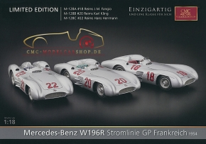 CMC model car brochure Mercedes-Benz W196R Streamliner GP France