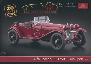 CMC model car brochure Alfa Romeo 6C 1750 Gran Sport