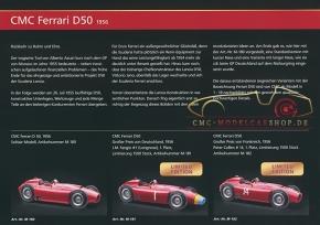 CMC modèles brochure Ferrari D50
