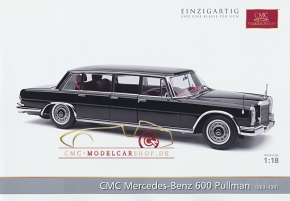 CMC model car brochure Mercedes-Benz 600 Pullman