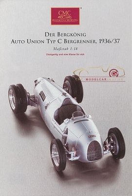 CMC model car brochure Auto Union Typ C Hillclimber