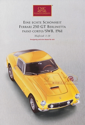 CMC Modell Prospekt Ferrari 250 GT Berlinetta Gelb,1961
