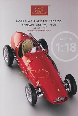 CMC Modell Prospekt Ferrari 500 F2, 1953