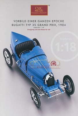 CMC model car brochure Bugatti Typ 35 Grand Prix, 1924