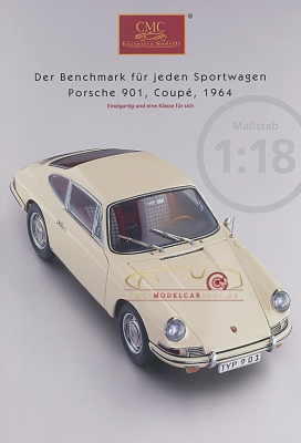 CMC model car brochure Porsche 901 Coupé,1964