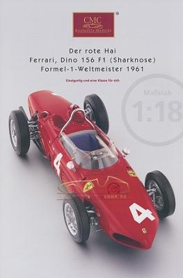 CMC Modell Prospekt Ferrari Dino 156 F1, Sharknose, 1961
