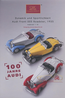 CMC model car brochure Audi Front 225 Roadster,1935