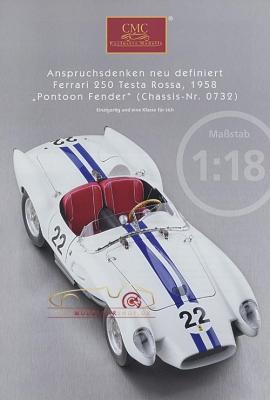 CMC Modell Prospekt Ferrari 250 Testa Rossa, 1958
