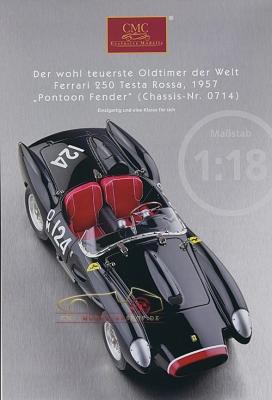 CMC Modell Prospekt Ferrari 250 Testa Rossa, 1957
