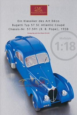 CMC model car brochure Bugatti Typ 57 SC Atlantic Coupé, 1938