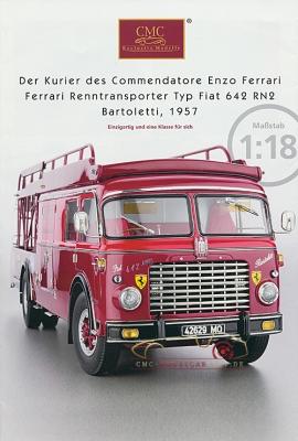 CMC Modell Prospekt Renntransporter Ferrari Typ Fiat 642 RN2