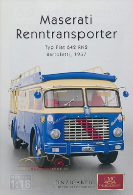 CMC model car brochure Maserati race car transporter