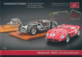 CMC model car brochure Maserati 300S Special Editions