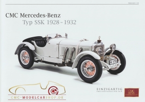 CMC model car brochure Mercedes-Benz SSK, 1928-1932