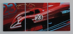 Canvas Porsche 917K signed by Hans Herrmann, Le Mans 1970