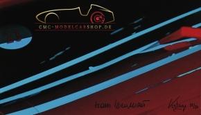 Leinwand Porsche 917K signiert Hans Herrmann, Le Mans 1970