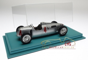 Atlantic vitrine Mulhouse leather turquoise, 1:18 model cars