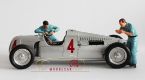 Figutec Set 2 Mechaniker Auto Union Figuren 1:18