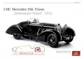 CMC model car brochure Mercedes SSK Trossi Black Prince