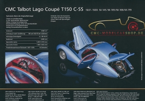 "CMC Modell Prospekt Talbot Lago Coupé ""Memory Edition"""