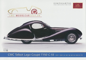 "CMC model car brochure Talbot Lago Coupé ""Memory Edition"""
