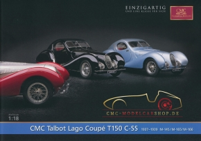 CMC model car brochure Talbot Lago Coupé