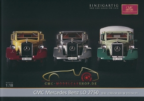 CMC model car brochure Mercedes-Benz LO 2750