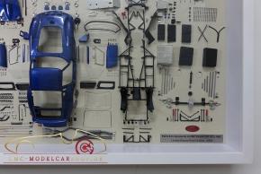 CMC Model Art Ferrari 250 GTO blue parts display board