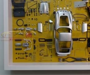 CMC Model Art Ferrari 250 GTO silver parts display board