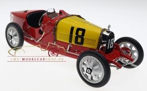 CMC Bugatti T35 GP Spanien #18 rot/gelb