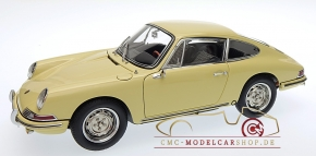 CMC Porsche 901 (Serie) 1964 champagner gelb, innen Leder schwarz
