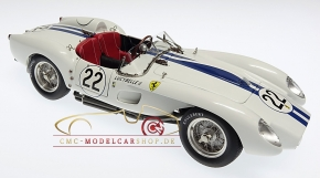 CMC Ferrari 250 Testa Rossa weiß #22, 1958 Le Mans-Rennversion, Limited Edition 2000