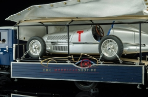 CMC Mercedes-Benz Racing Car Transporter LO 2750 + W25 T-Car Bundle
