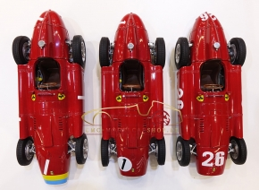 "CMC Lucky Set ""Fangio"" CMC Ferrari D50 long nose #1+Ferrari D50 short nose #1+Ferrari D50 short nose #26"