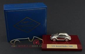 CMC VW Käfer Brezelkäfer 1949, versilbert, 1:87