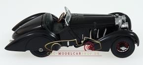 "CMC Mercedes SSK Trossi, 1932 ""The Black Prince"", Interior leather dark green"