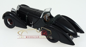 "CMC Mercedes SSK Trossi, 1932 ""Der Schwarze Prinz"", Innen Leder dunkelgrün"