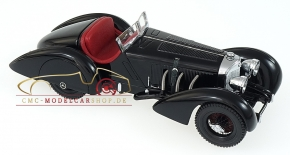 "CMC Mercedes SSK Trossi, 1932 ""The Black Prince"", Interior leather Red"